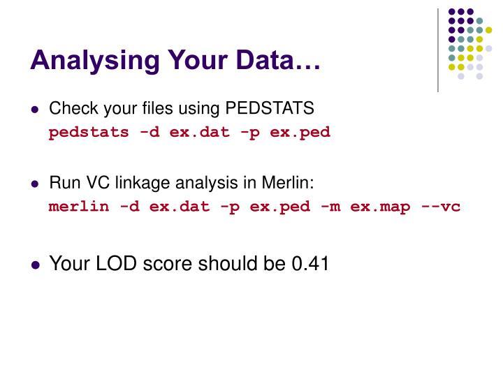 Analysing Your Data…