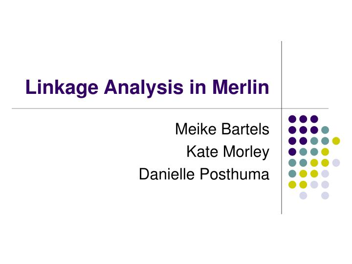 Linkage analysis in merlin