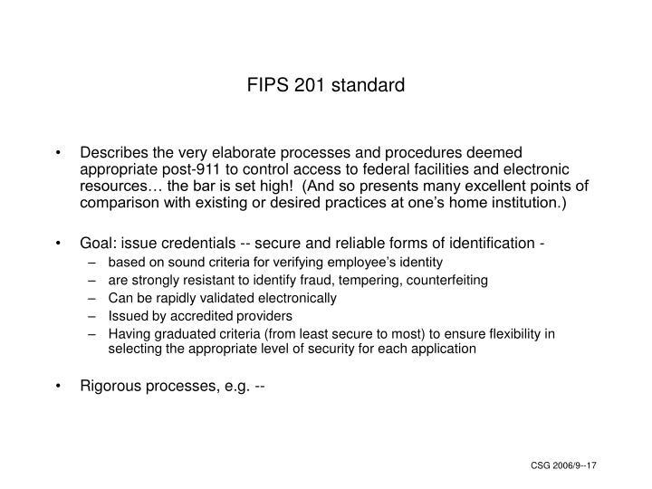 FIPS 201 standard