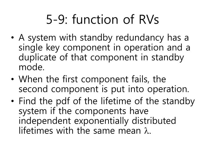 5-9: function of RVs