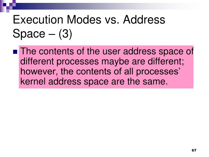 Execution Modes vs. Address Space – (3)