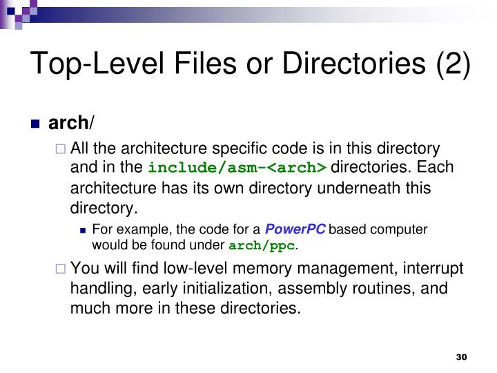 Top-Level Files or Directories (2)