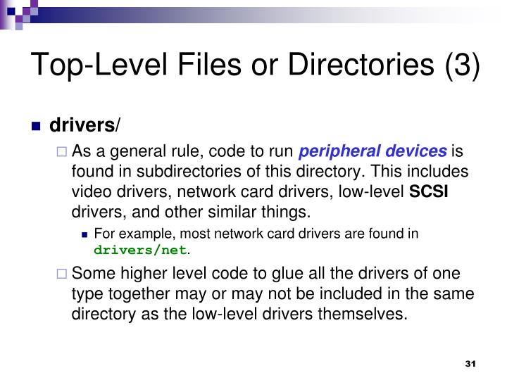Top-Level Files or Directories (3)