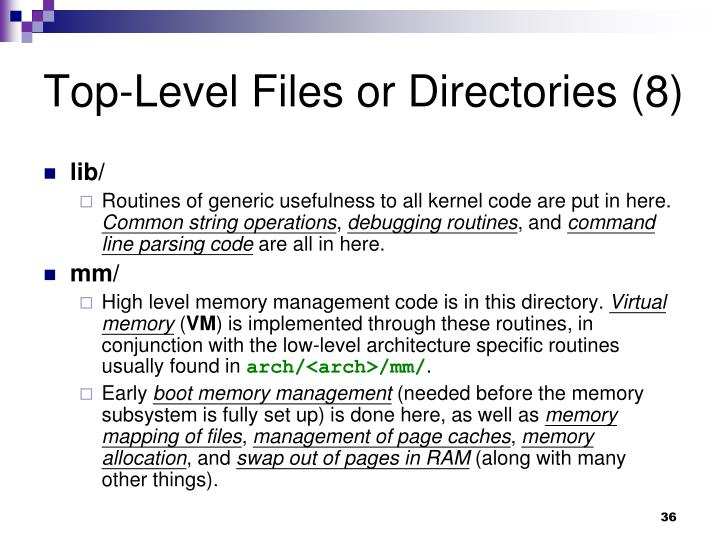 Top-Level Files or Directories (8)