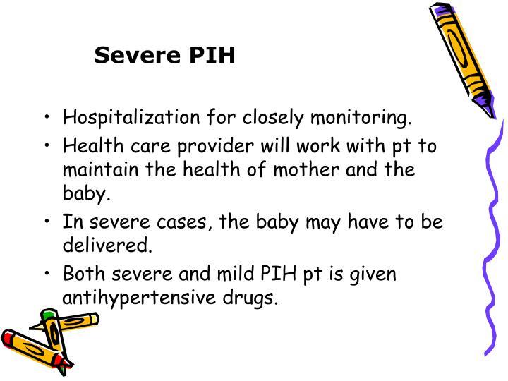 Severe PIH