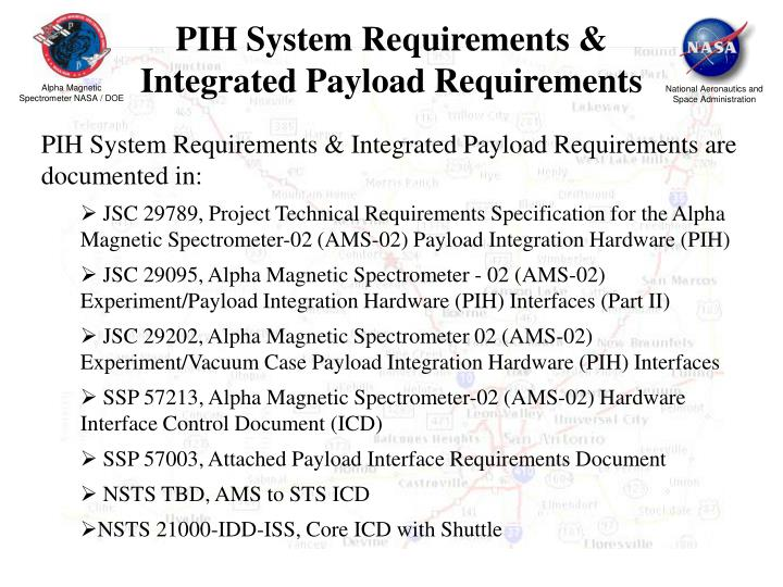 PIH System Requirements &