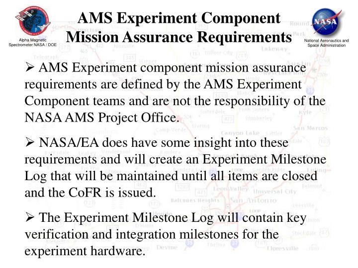 AMS Experiment Component