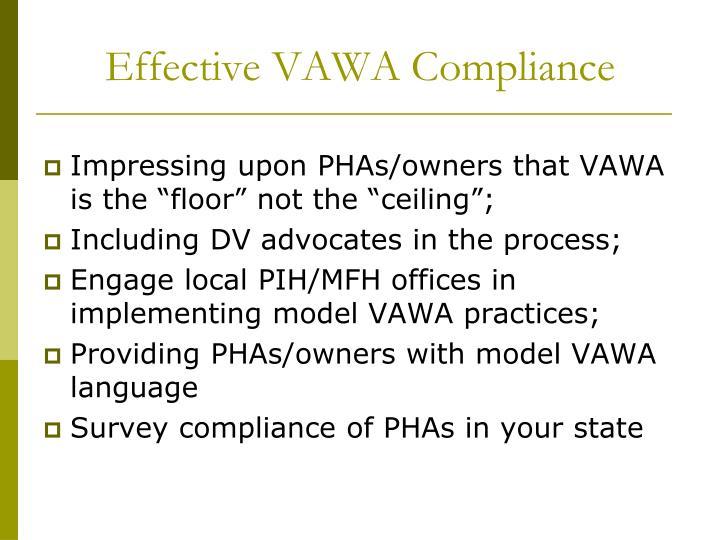 Effective VAWA Compliance