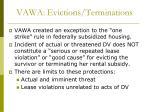 vawa evictions terminations
