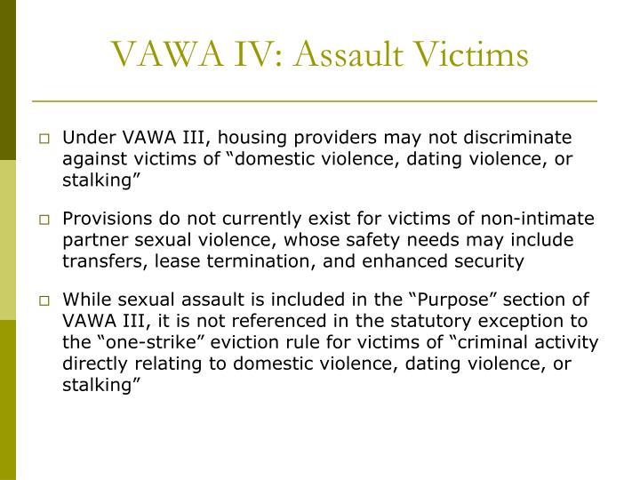 VAWA IV: Assault Victims