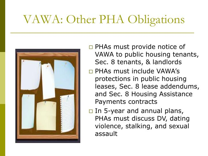VAWA: Other PHA Obligations