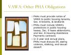 vawa other pha obligations