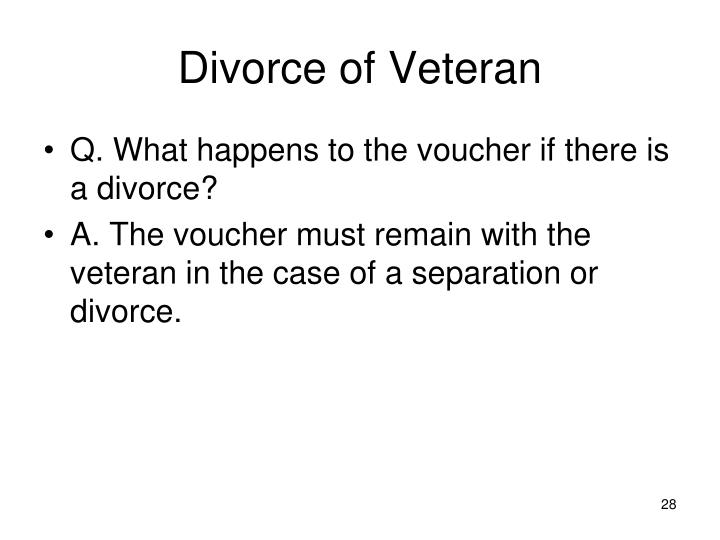 Divorce of Veteran
