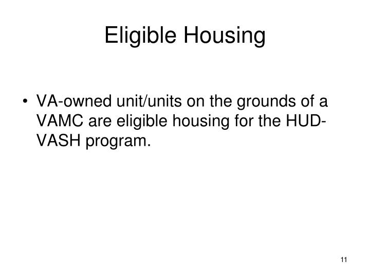 Eligible Housing