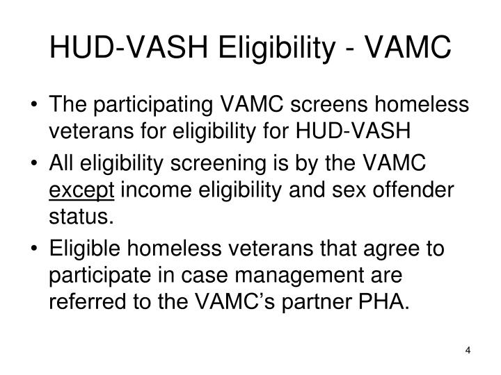HUD-VASH Eligibility - VAMC
