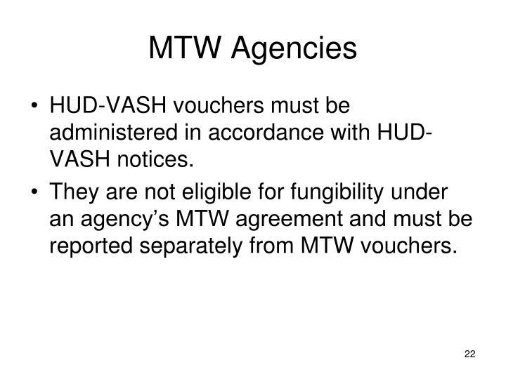 MTW Agencies