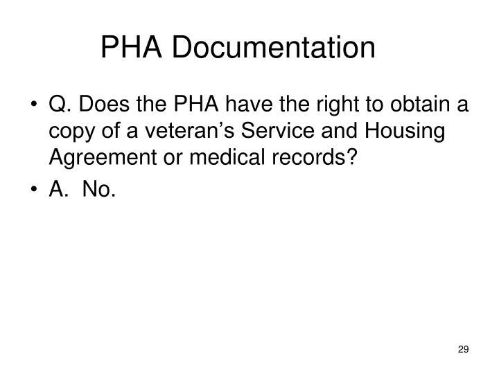 PHA Documentation