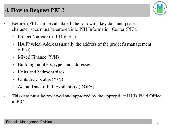 4. How to Request PEL?