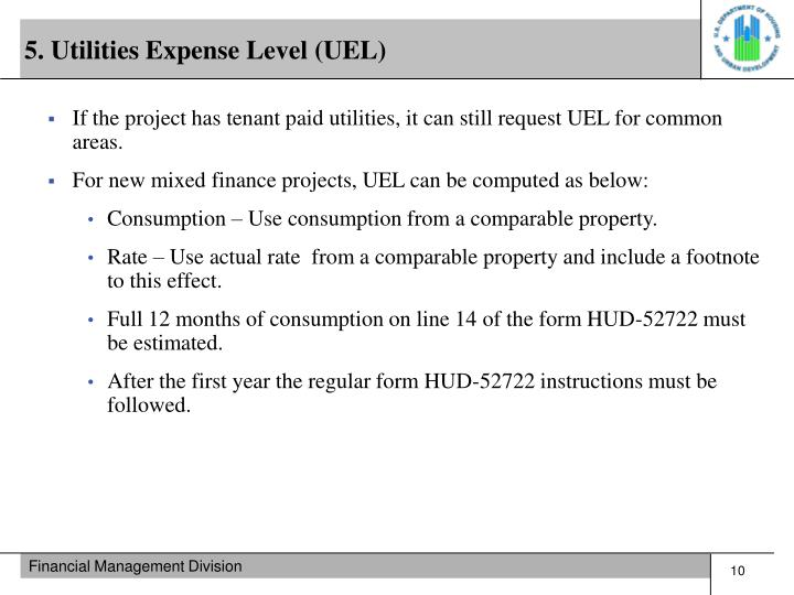 5. Utilities Expense Level (UEL)