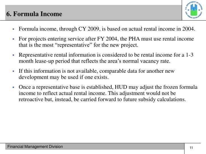 6. Formula Income