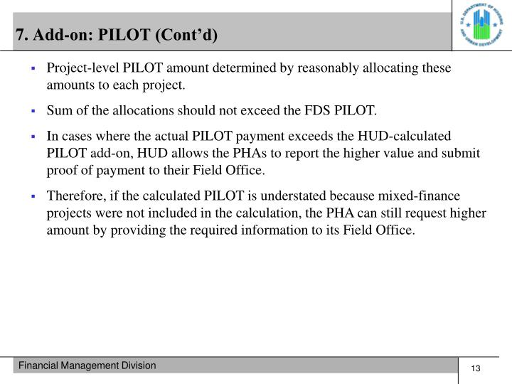 7. Add-on: PILOT (Cont'd)