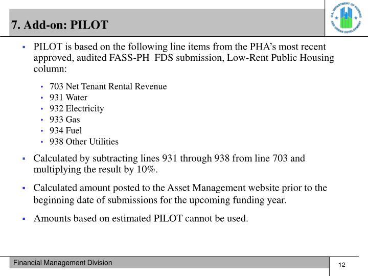 7. Add-on: PILOT
