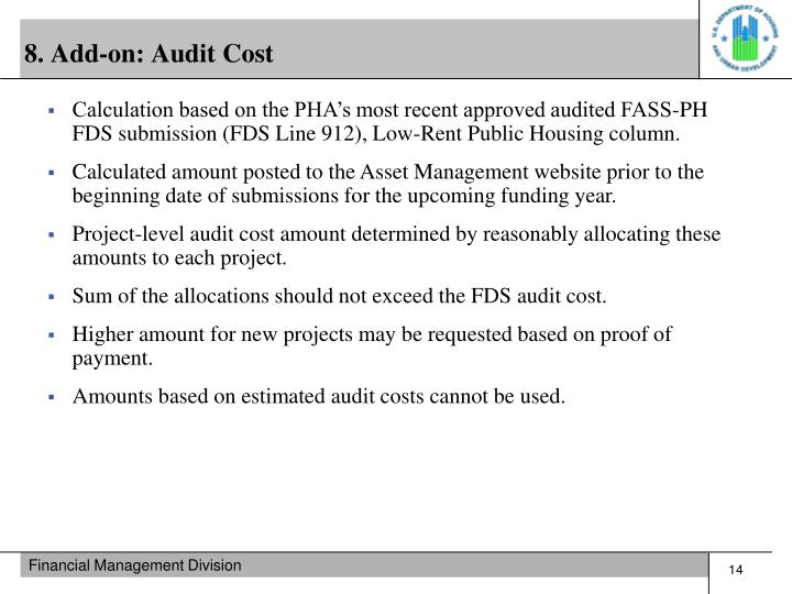8. Add-on: Audit Cost