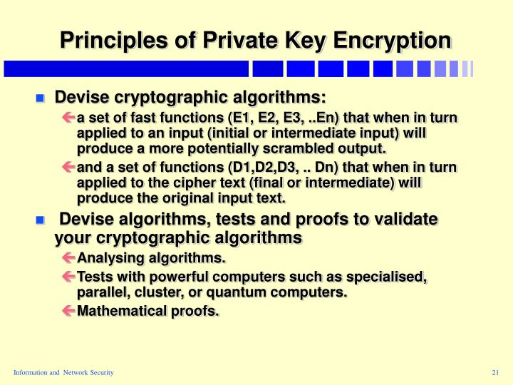 Principles of Private Key Encryption