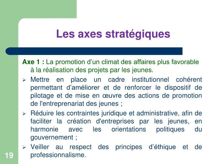 Les axes stratégiques