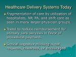 healthcare delivery systems today1
