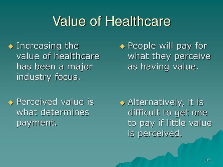 Increasing the value of healthcare has been a major industry focus.