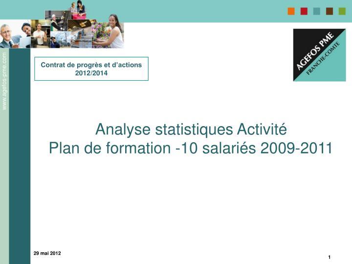Contrat de progrès et d'actions 2012/2014