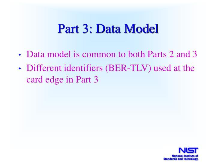 Part 3: Data Model