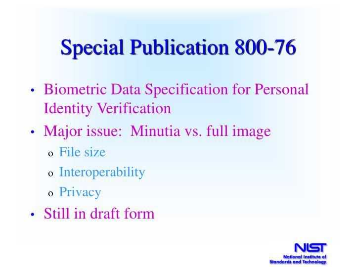 Special Publication 800-76