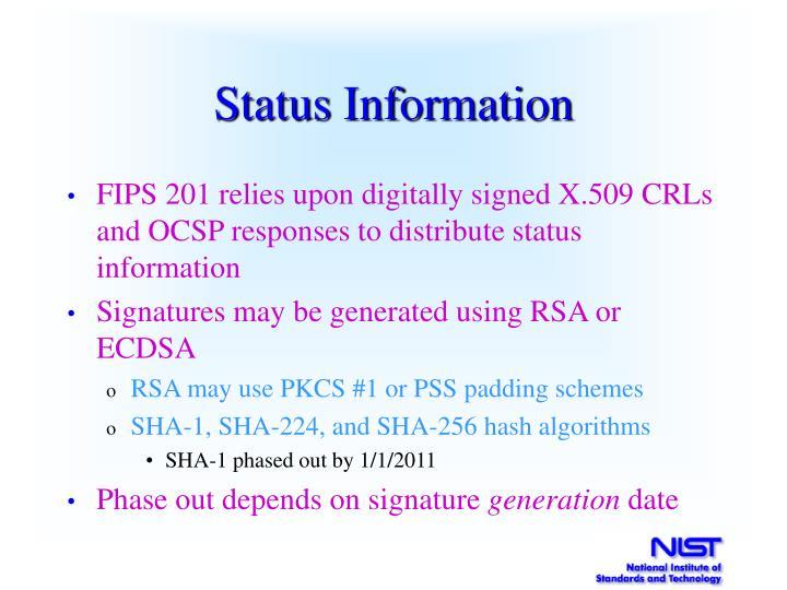 Status Information