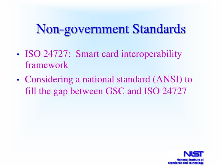 Non-government Standards