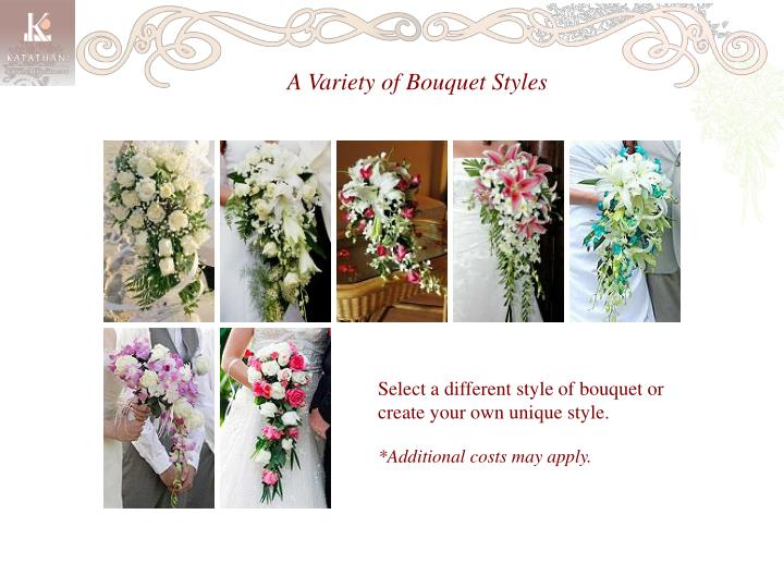 A Variety of Bouquet Styles