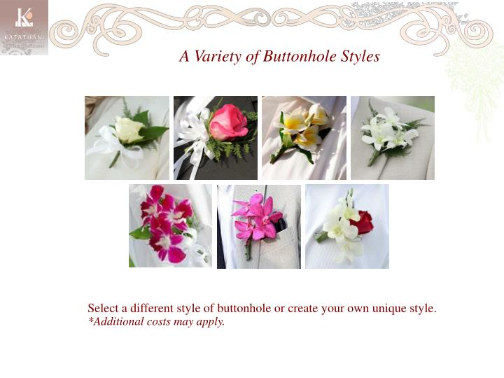 A Variety of Buttonhole Styles