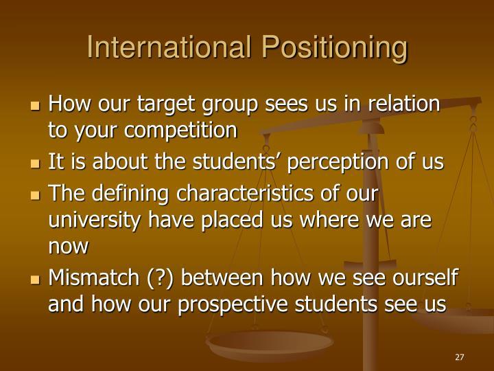 International Positioning