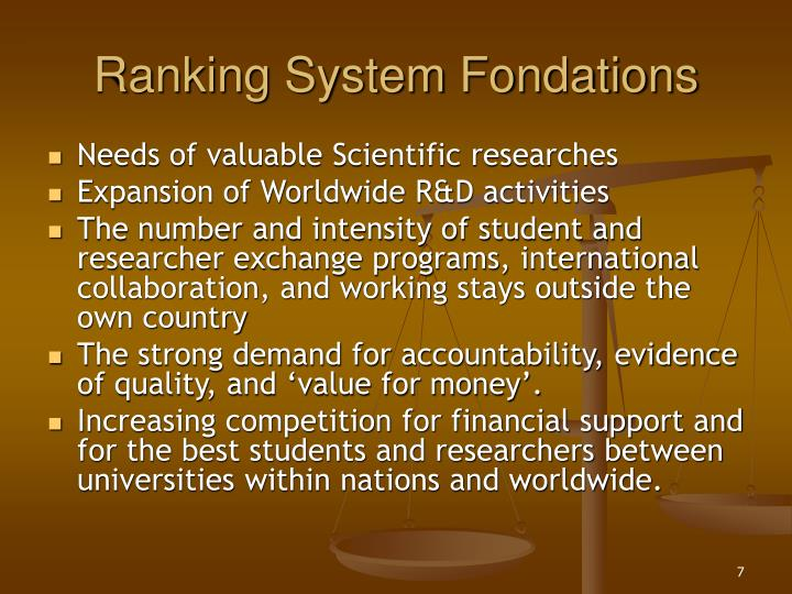 Ranking System Fondations