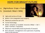 hope for bright future