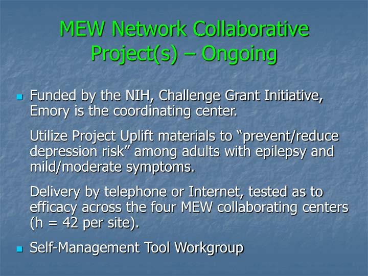 MEW Network Collaborative Project(s) – Ongoing
