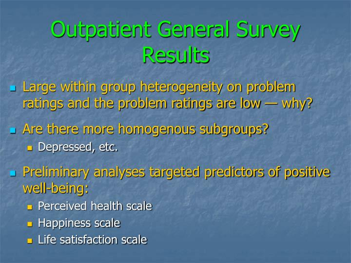 Outpatient General Survey Results
