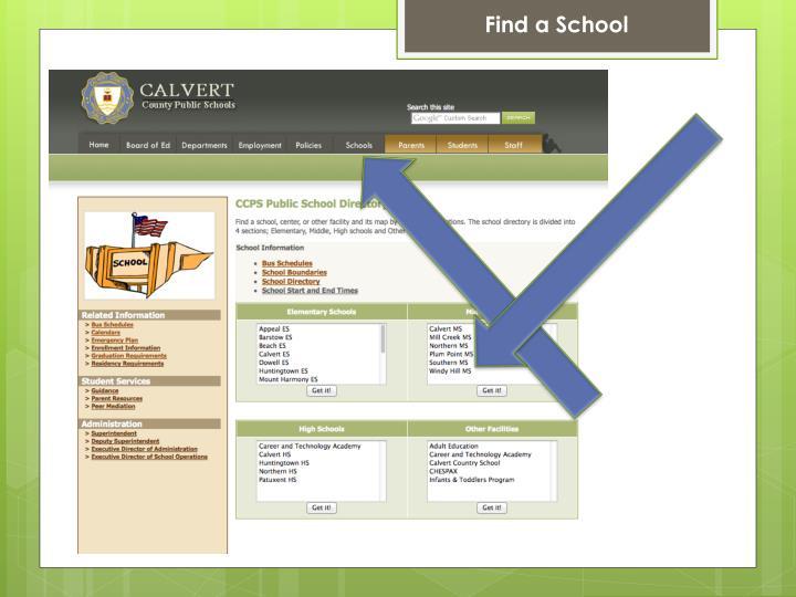Find a School