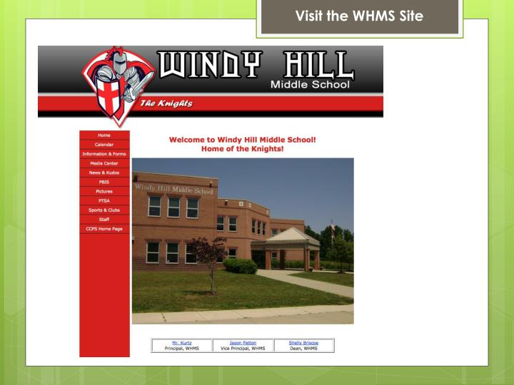 Visit the WHMS Site