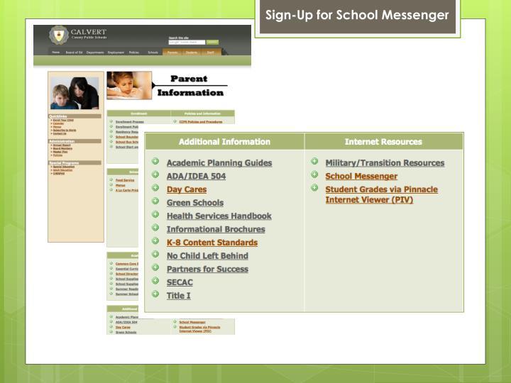 Sign-Up for School Messenger