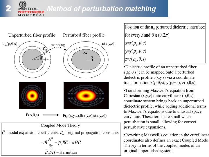 Perturbed fiber profile