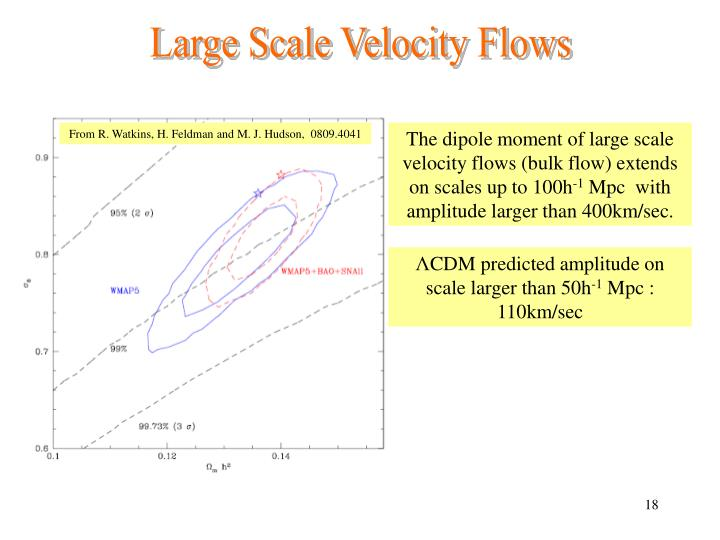 Large Scale Velocity Flows