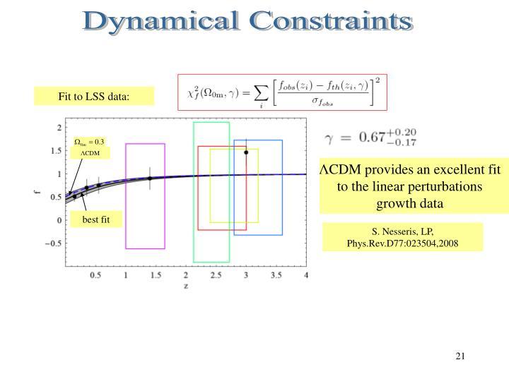 Dynamical Constraints