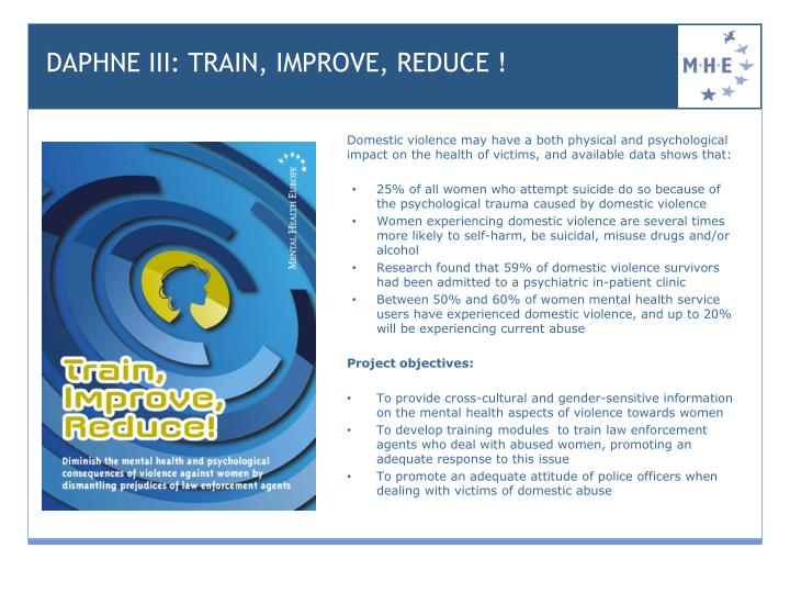 DAPHNE III: TRAIN, IMPROVE, REDUCE !